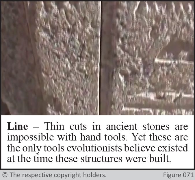 Ancient Stone Cutting - Line