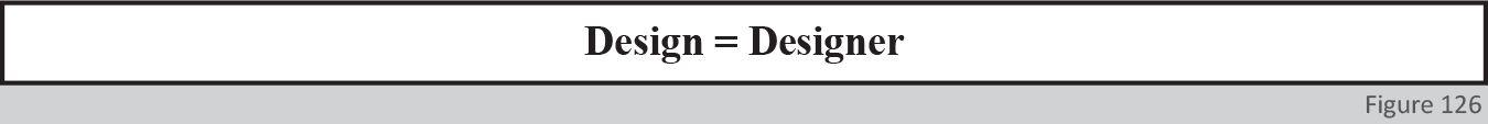 Design = Designer