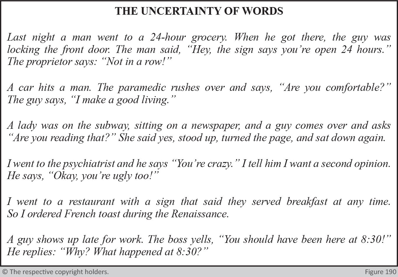 Uncertainty of Words