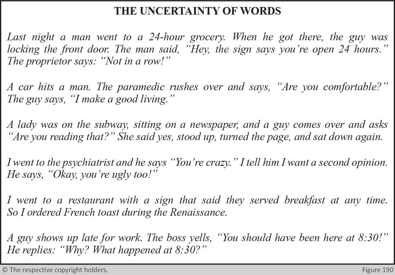 Uncertainty of Words