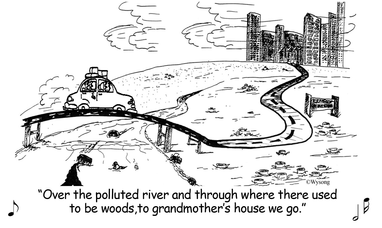 Over the Polluted River