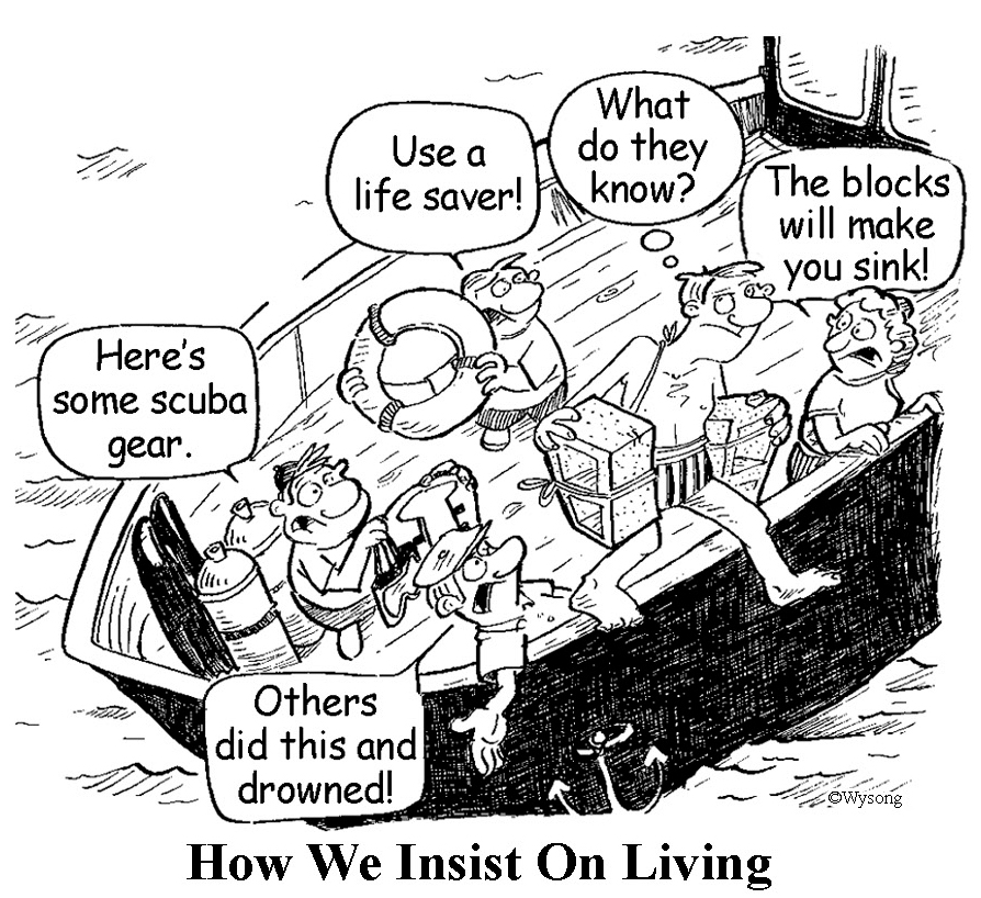 How We Insist on Living