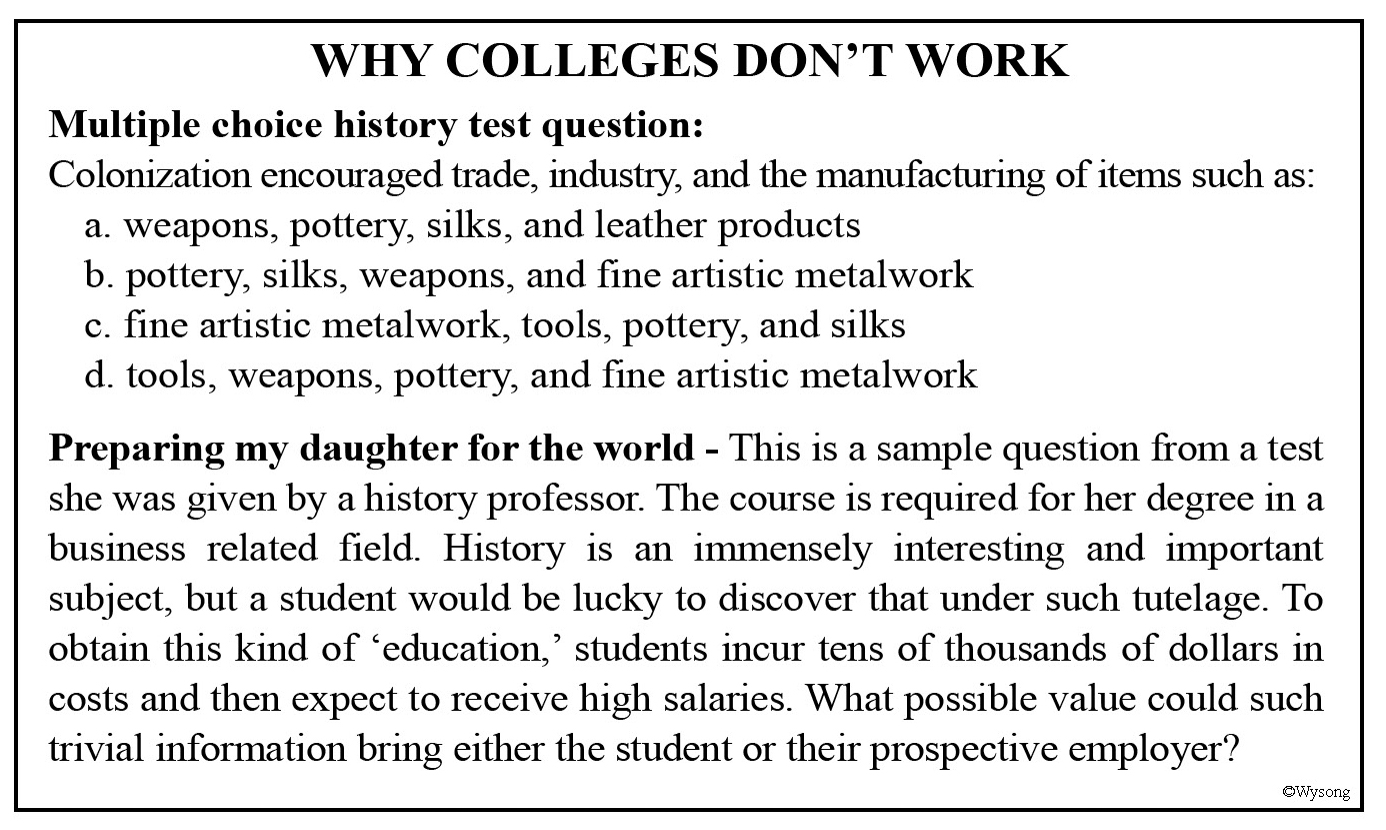 Colleges Dont Work