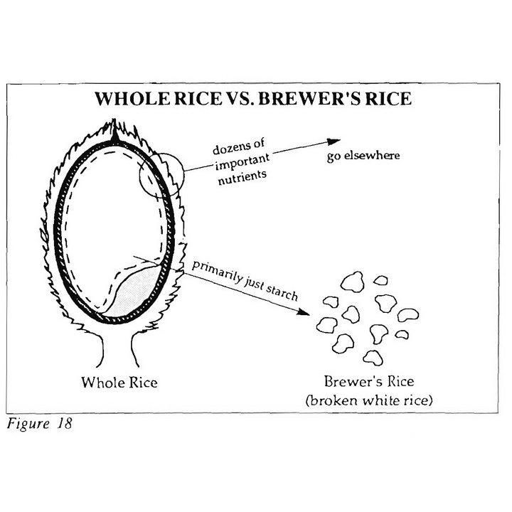 Whole Rice vs Brewers Rice